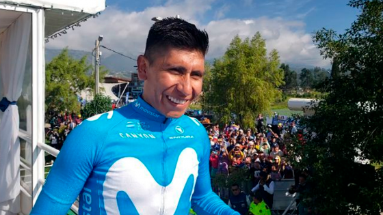 Nairo Quintana en el movistar team