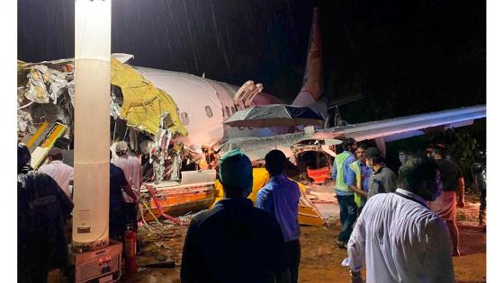 avión en la india accidente
