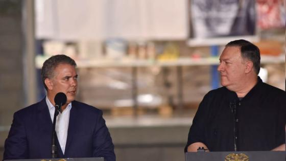 Iván Duque y Mike Pompeo