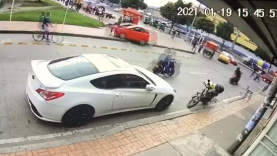 Captura de video accidente Suba