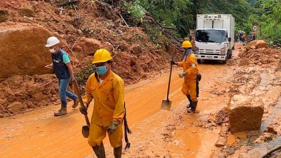 Continúa cierre en la vía Medellín - Bogotá por deslizamientos | KienyKe
