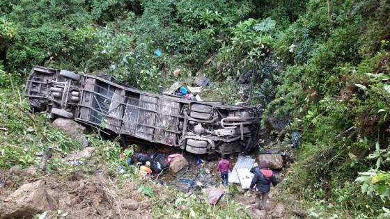 Accidente de bus en Bolivia