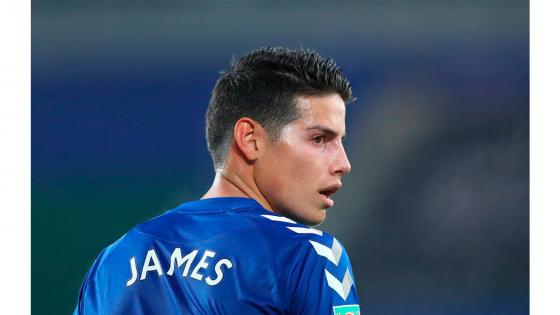 james rodríguez en el everton