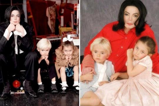 Michael Jackson e hijos