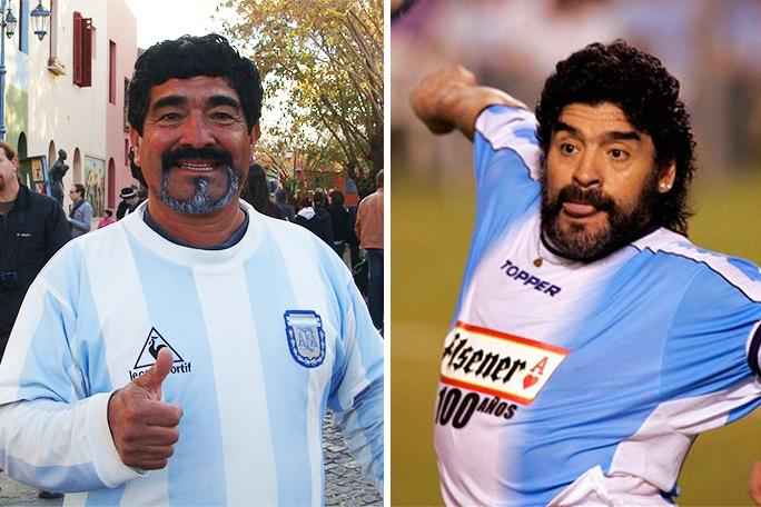 Escolástico Méndez y Diego Maradona