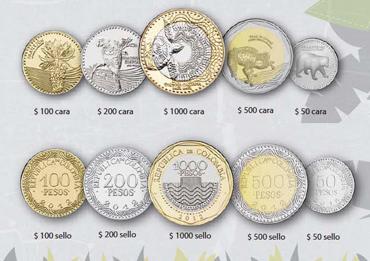 Las nuevas monedas colombinas