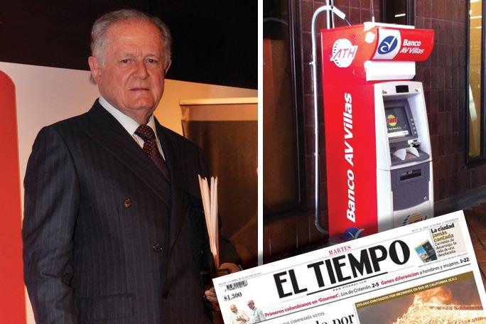 Luis Carlos Sarmiento, Cajero grupo Aval, Instalaciones periódico El Tiempo