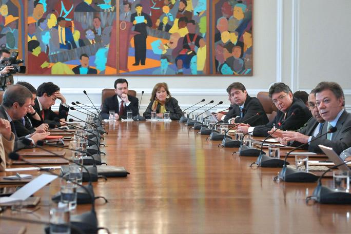 Consejo de gobierno Juan Manuel Santos