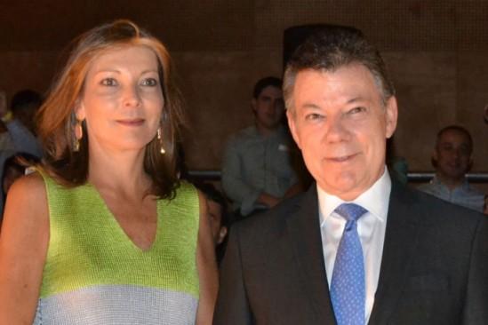 María Clemencia Rodríguez de Santos y Juan Manuel Santos