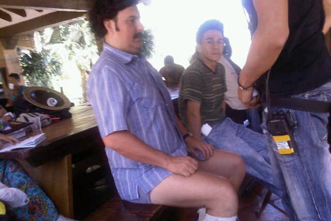 Pablo Escobar en calzoncillos