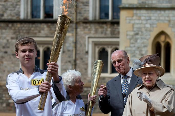Reina Isabel Antorcha Juegos Olímpicos