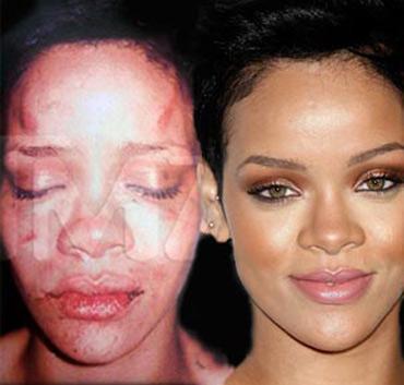 Rihanna golpeada