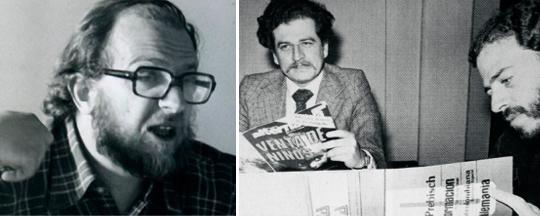 Daniel Samper, Luis Carlos Galán y Enrique Santos