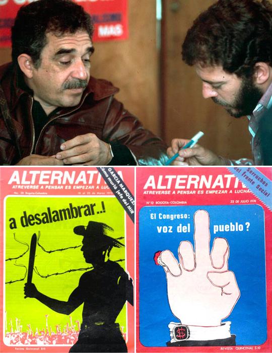 Enrique Santos y Gabriel García Márquez, Revista Alternativa