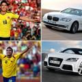 Autos futbolistas colombianos