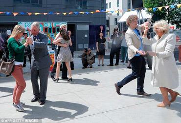 Baile príncipe Carlos y Camila Parker