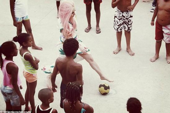 Lady Gaga en las favelas