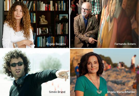 Ángela Becerra, Fernando Botero, Simón Brand y Angela María Arbeláez, Exposición 100 colombianos