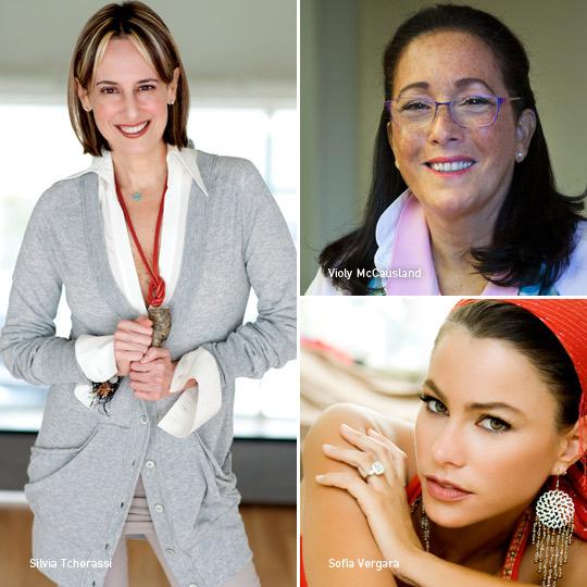 Silvia Tcherassi, Violy McCausland y Sofía Vergara, Exposición 100 colombianos