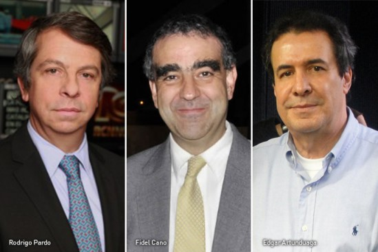 Rodrigo Pardo, Fidel Cano, Edgar Artunduaga