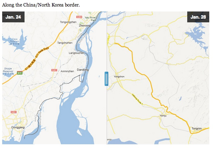 Korea del norte mapa