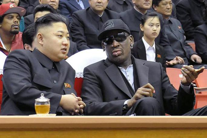 Kim Jong Un y Dennis Rodman