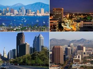 San Diego, Riverside, Philadelphia, Phoenix, Kienyke