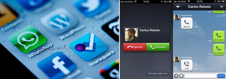 Redes sociales, Whatsapp, Line, Kienyke