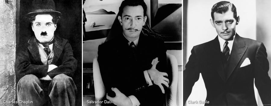Charles Chaplin, Salvador Dalí y Clark Gable, Kienyke