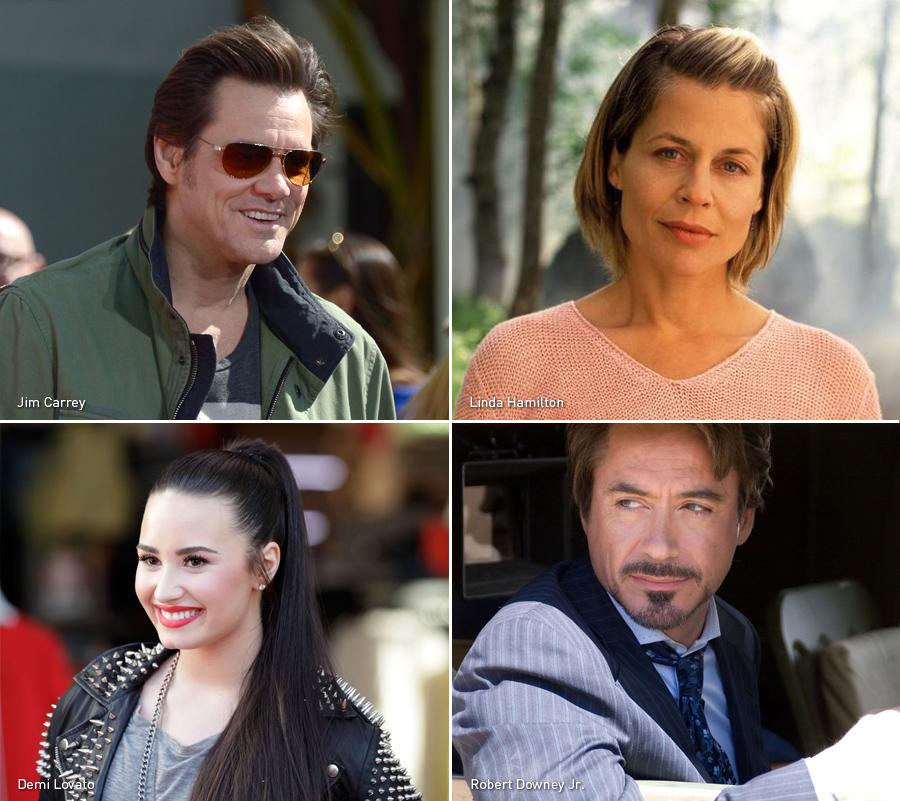 Jim Carrey, Linda Hamilton, Demi Lovato, Robert Downey Jr., Bipolares, Celebridades, Kienyke