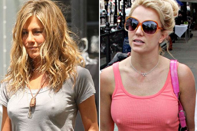 Jennifer Aniston, Britney Spears, Sin brasier, Kienyke