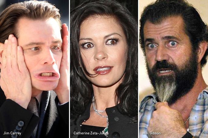 Jim Carrey, Catherine Zeta-Jones, Mel Gibson, Celebridades bipolares, Kienyke