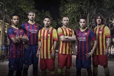 Nuevas camisetas del Barcelona.keinyke