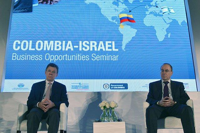 Juan Manuel Santos encuentro de empresarios, Kienyke, Proexpo, Israel