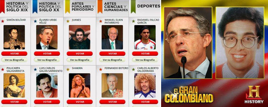 El Gran Colombiano, Álvaro Uribe, Jaime Garzón, Kienyke