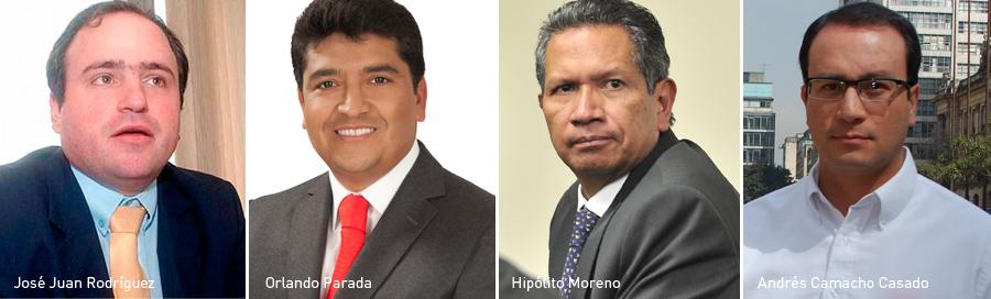 Ex concejales, José Juan Rodríguez, Orlando Parada, Hipólito Moreno, Andrés Camacho Casado, Kienyke