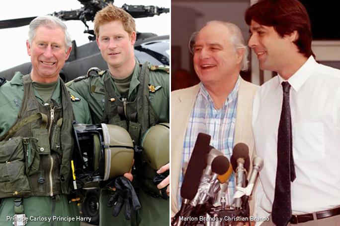 Príncipe Carlos, Príncipe Harry, Marlon Brando, Christian Brando, Kienyke