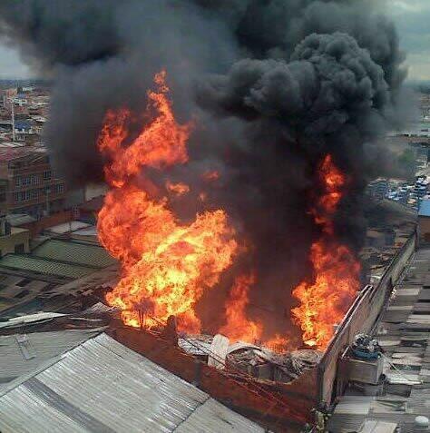 Gran incendio en el sur de Bogotá