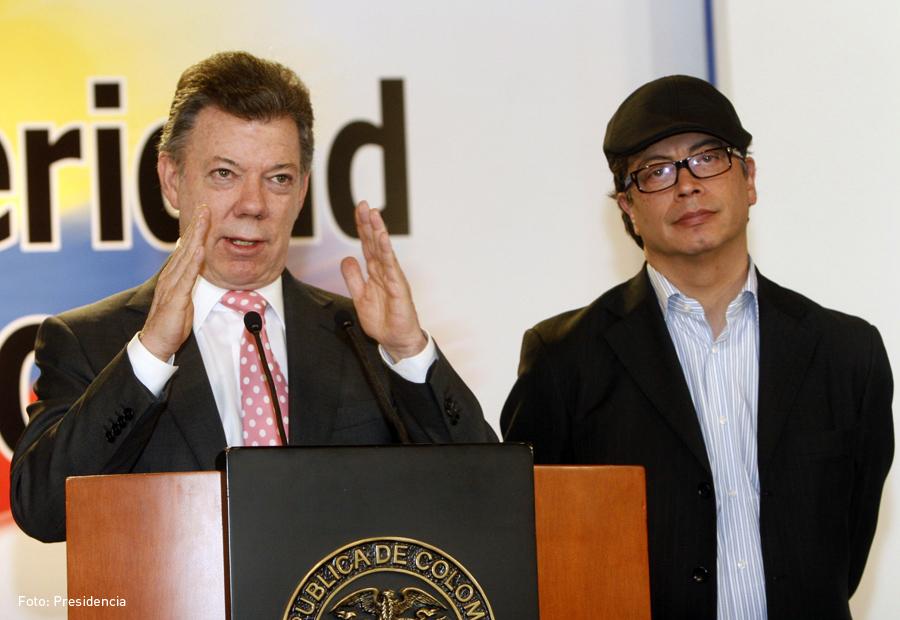 Juan Manuel Santos y Gustavo Petro, Kienyke
