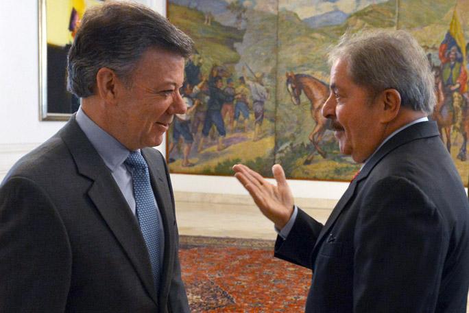 Luiz Inacio Lula Da Silva, Juan Manuel Santos, kienyke