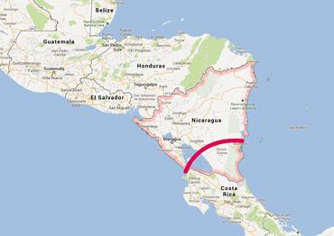 Mapa Nicaragua, Canal, Kienyke