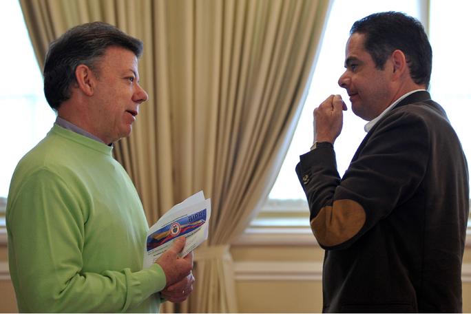 German Vargas y juan Manuel Santos, kienyke