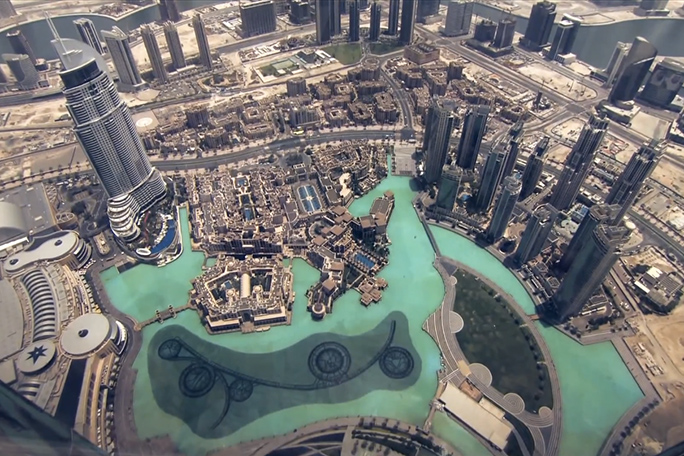 Así es la vista desde el edificio más alto del mundo