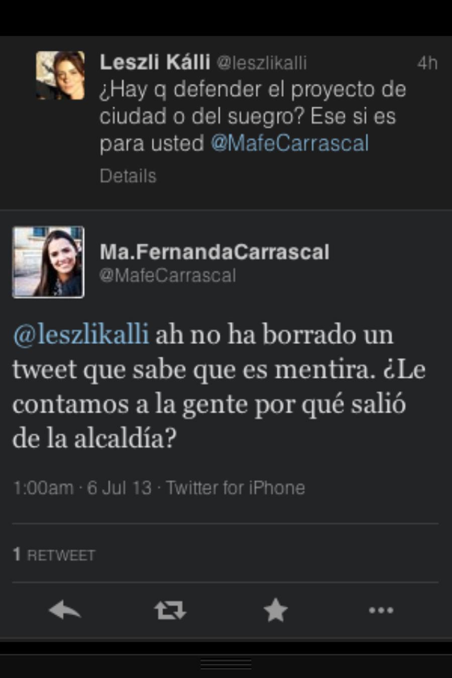 Mafe Carrascal, Leszli Kalli