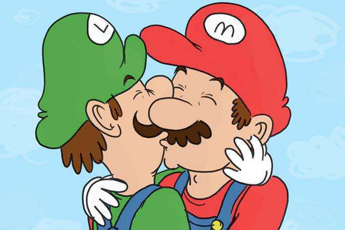 Mario Bros y Luigi gay, Kienyke