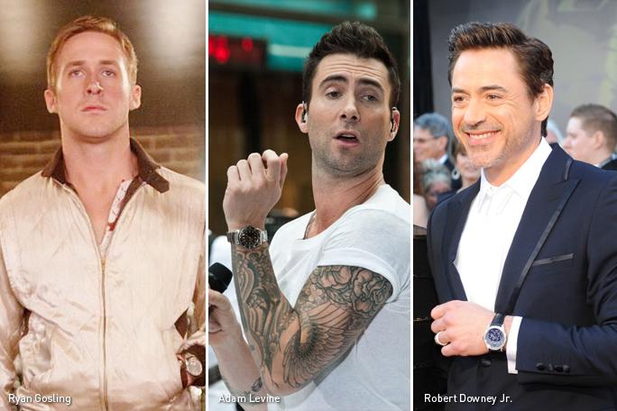 Ryan Gosling, Adam Levine, Robert Downey Jr, Reloj, Kienyke