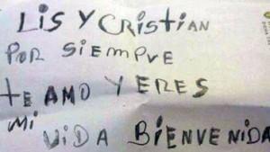 carta de Lis y Christian Benitez.kienyke