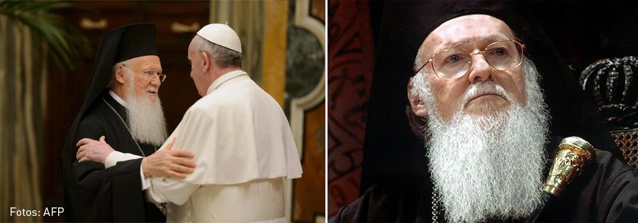 Bartolomeo I y el Papa Francisco, Kienyke