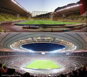 Estadio Luis II, Estadio Parque de los príncipes, Kienyke