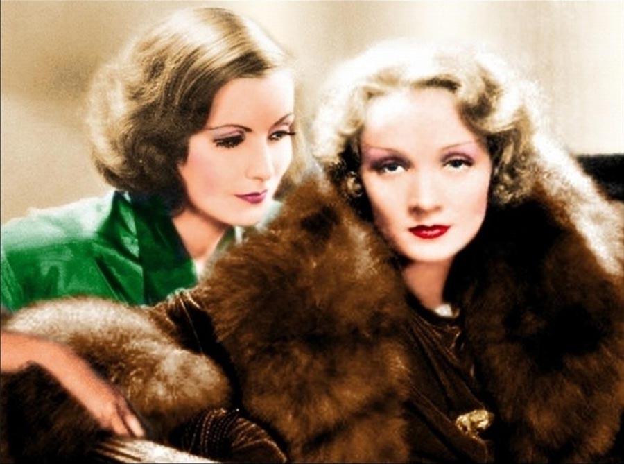 Greta Garbo y Marlene Dietrich. kienyke